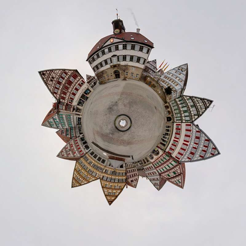 Herrenberg Marktplatz little planet